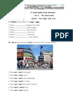 Worksheet 1 Past Simple Verb to Be 02