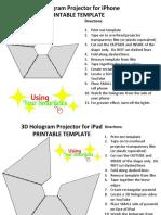 3 d Hologram Projector Template