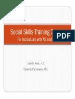 Social Skills Training Groups