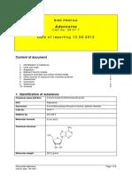 Risk Profile Adenosine