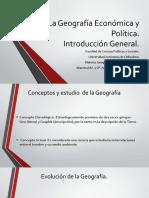 1.-La Geografía Económica y Política