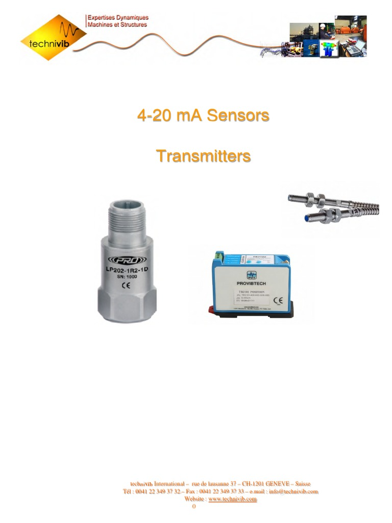 Catalogue Transmetteurs 4 20ma Accelerometer Coaxial Cable To Hart Converter On Wiring Diagram For