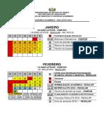 Calendário acadêmico da UEAP