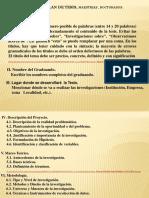 1-A Presentación Estruct. Plan de Tesis