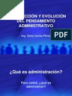 Cap 01 - Introducción y Evolución Del Pensamiento Administrativo