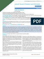 Relation Between Periodontitis and Diabetes