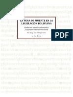Pena Muerte Legislacion Boliviana