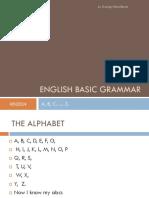 English BASIC Grammar First Evaluation