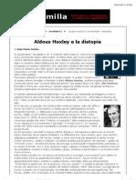 Huxley e distopia