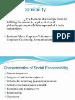 Ch. 1 Social Responsibility