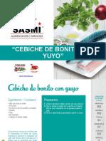 Cebiche de Bonito Con Yuyo by SASMI PERU
