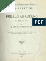 Comentarios del pueblo araucano  (la faz social).pdf