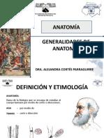 1.- Generalidades de Anatomia