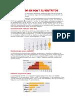 La Población de Ica y Sus Distritos