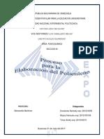 Proceso Para La Elaboracion Del Polietileno (Reparado)