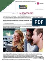 Diez Iniciativas Para Implementar Un Plan de Voluntariado Digital