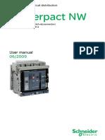 User Manual Masterpact NW08-40 NAVY