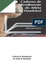 Handebol 1 - Caderno de Avaliação Do Atleta