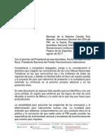 13-08-17 Mensaje Claudia Ruiz Massieu Plenaria PRI