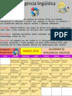 Calendario de Inteligencias Multiples Marzo Linguistica 1