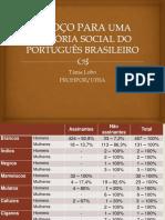 Esboço Para Uma História Social Do Português Brasileiro Slide