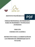 Instructivo Para Acreditar UAE UPIITA 6 de Mayo 2014