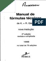 LIVRO - Manual de Fórmulas Técnicas [K. R. Gieck] [Editora Hemus]