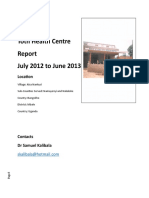 Toth Health Centre Report Jul 2012 to June 2013