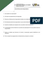 Lista de exercicios teoria evaporadores