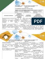 Guía de Actividades y Rúbrica de Evaluación Paso 4 Reflexión Teórica Evaluación Final