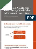 Variables Aleatorias Discretas y Variables Aleatorias Continuas (Conceptos y Ejercicios)