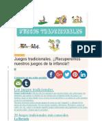 Juegos Para Niños.docx Tradicionales