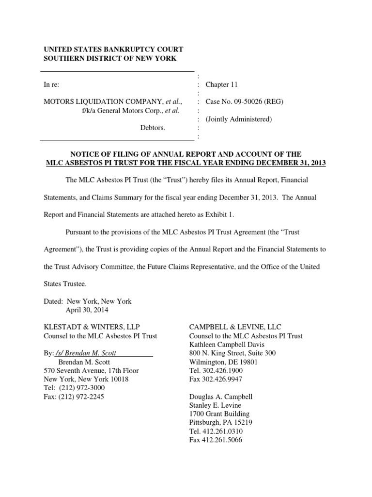 Liquidating trustee agreement