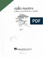Libro Detalles Maestros Manual de Dibujo, Procedimientos y Detalles