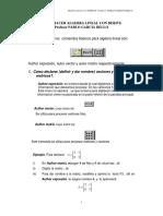 Como Hacer Algebra Lineal Con Derive