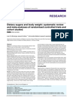Dietary Sugars and Body Weight- Systematic Review and Meta-Analyses of Randomised Controlled Trials and Cohort Studies