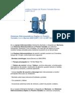 Sistemas Hidroneumáticos Dúplex de Presión Variable Barnes EHD