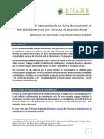 Sistematizacin de Experiencias de Los Foros Nacionales de La Red Latinoamericana Para Servicios de Extensin Rural - Final3