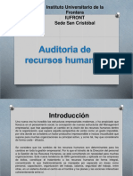 Auditoria de Recursos Humanos.