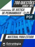 Apostila TJPE - 700 questões resolvidas da banca IBFC - TJ-PE