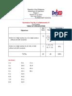 Summative Test in Math 4 ( July 19 )