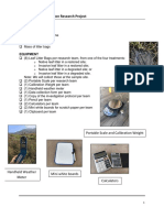 leaf litter decomposition protocols and data sheets updated