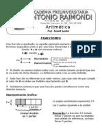 ARITMETICA - Fracciones 1