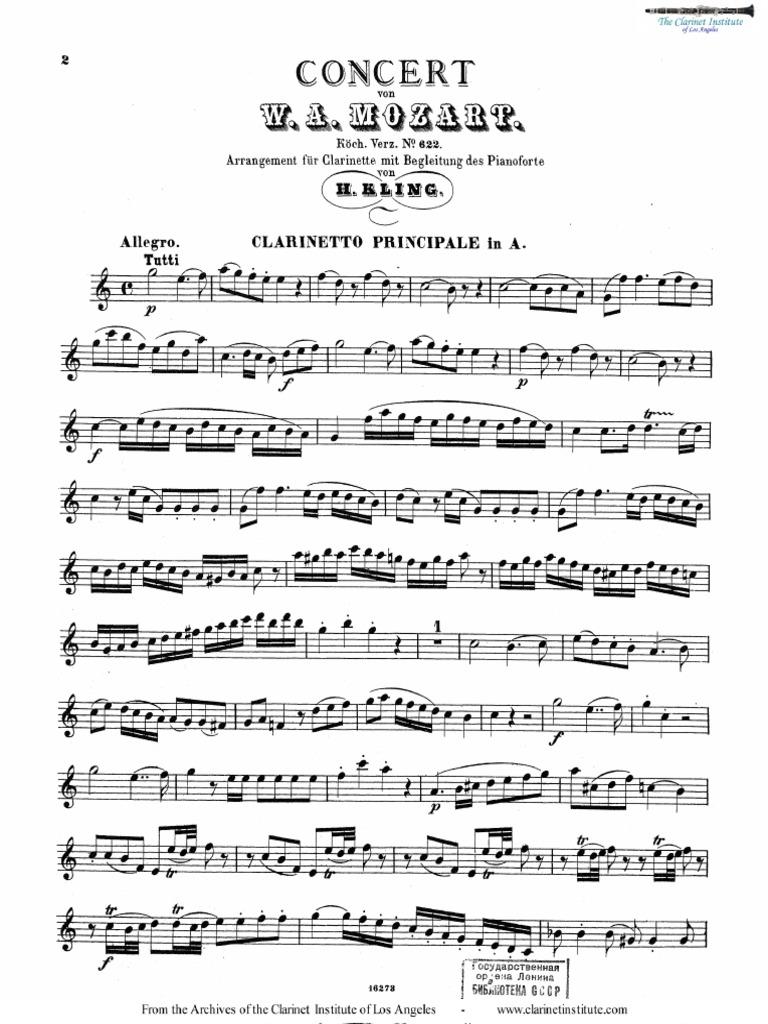 Mozart - Clarinet Concerto