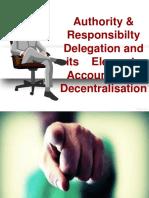 AUhtoRity and Responsibilty