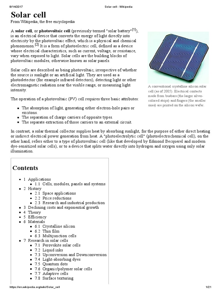 Solar Cell Wikipedia Thin Film Photoelectric Wiring Diagram
