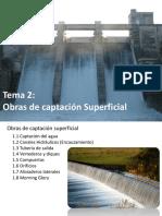 Tema 3. Obras de Captación Superficial (1)
