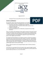 Functional Checklist for HVAC