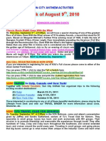 Activities Update 08-09-10