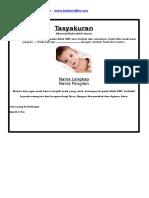Format Tasyakuran Kelahiran Bayi